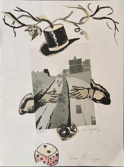Roland Topor  Lithographie signée et numérotée,...