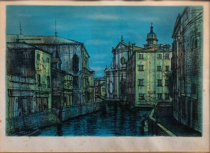 20853  Jean CARZOU (1907-2000)  Vue de Venise  Lithographie  Signée et numérotée...