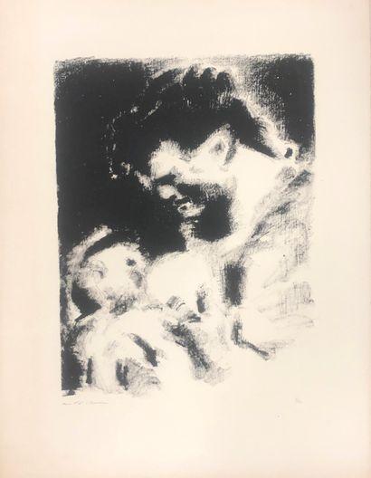 André MASSON (1896-1987)  Maternité  Lithographie...
