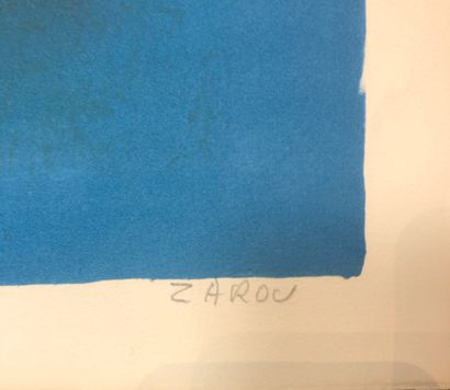 Victor ZAROU (1930-2013)  Taureau de Camargue  Lithographie signée en bas à droite....