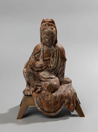 CHINE, XVI- XVIIème siècle. Sculpture en...