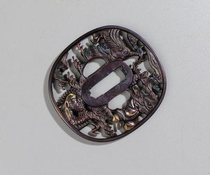 JAPON, époque EDO (1688-1735) signé par l'armurier...
