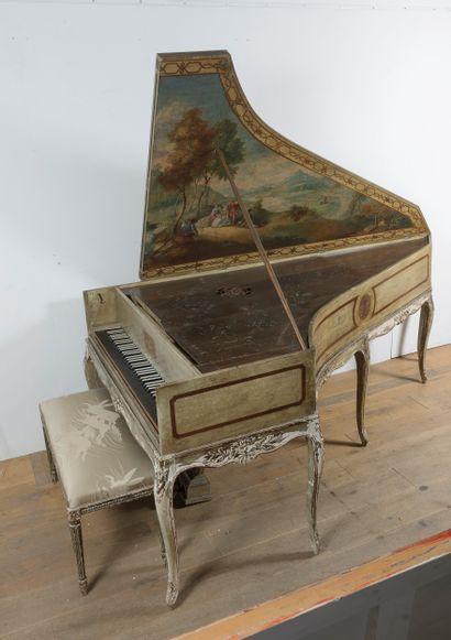 KRIEGELSTEIN Piano à queue en forme de clavecin...