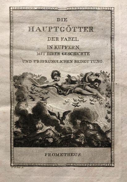 Un volume  Die Hauptgotter, 1803  24 pla...