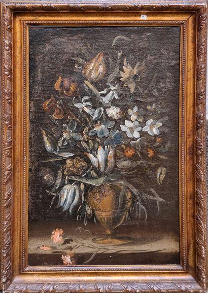 Dans le gout du XVIIe  nature morte au bouquet...