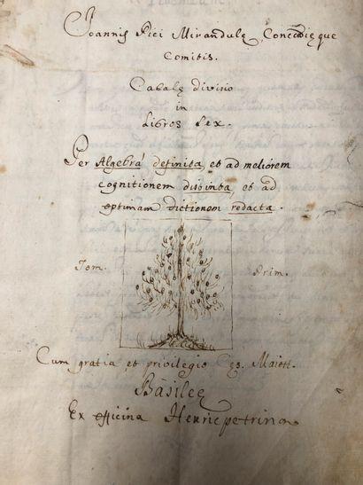 Une volume manuscrit en deux tomes sur les...