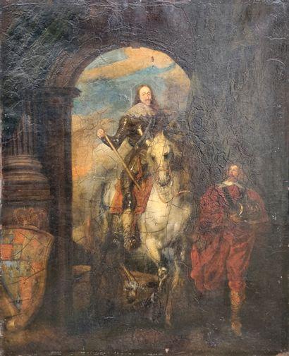 D'après Antoine van Dyck  Portrait de Charles...