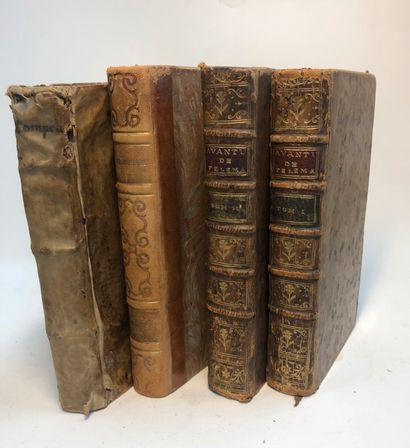 Lot de quatre volumes Les Aventures de Télémaque,...