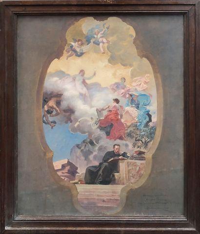 François SCHOMMER (1850-1935) Etude pour...