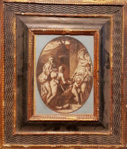 Ecole ITALIENNEdu XVIIe siècle  Figures....