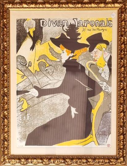 D'après Toulouse-Lautrec  Divan Japonais...