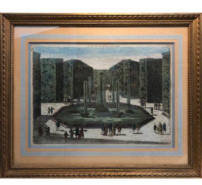 Vue d'optique des bassins de Versailles  Vue...