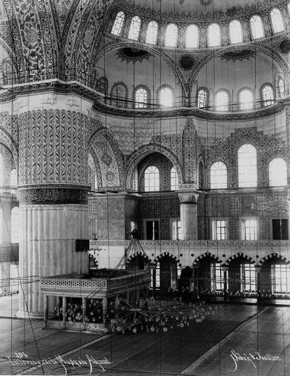 TURQUIE – SEBAH & JOAILLIER Sans Prix de réserve -  Intérieur de la Mosquée Ahmed,...