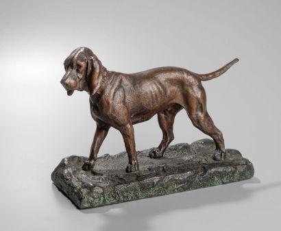 A. DUBUCAND (1828-1894) : Setter  Bronze...