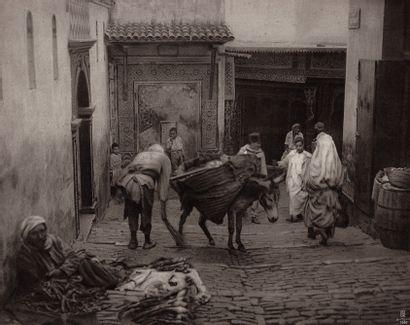 ÉGYPTE – LEHNERT & LANDROCK Sans Prix de réserve -  Rues du Caire, ca. 1910.  4 photogravures,...