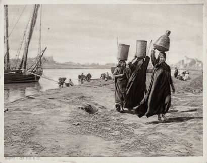 ÉGYPTE – LEHNERT & LANDROCK Sans Prix de réserve -  On the Nile ; Thebes The Ramasseum...