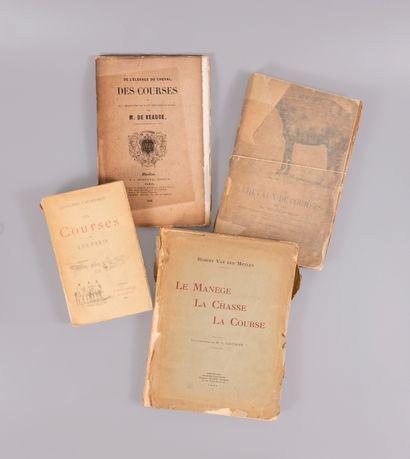 CHEVAUX. — Courses, 4 ouvrages.  - CAVAILHON....