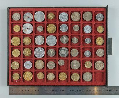 Essais monétaires. Lot de 47 essais des colonies...