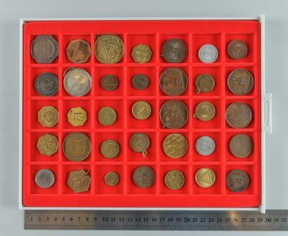 Franc-Maçonnerie. Lot de 35 médailles et...