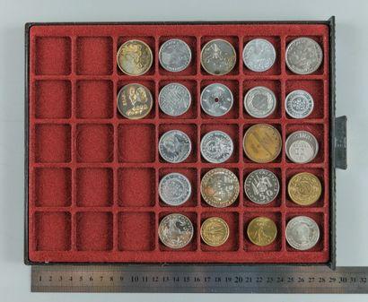 Essais monétaires. Lot de 22 essais de France,...