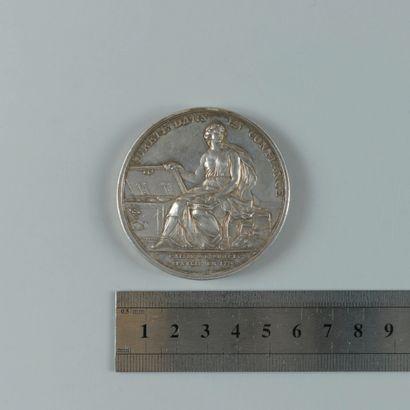 Caisse d'escompte établie en 1776, médaille...