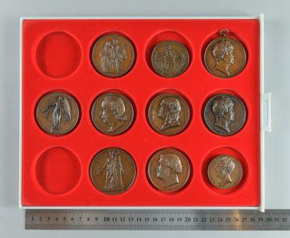 Louis-Philippe Ier. Lot de 10 médailles en...