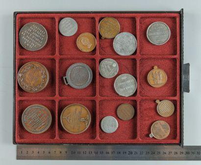 IIe République, 1848. Lot de 17 médailles...