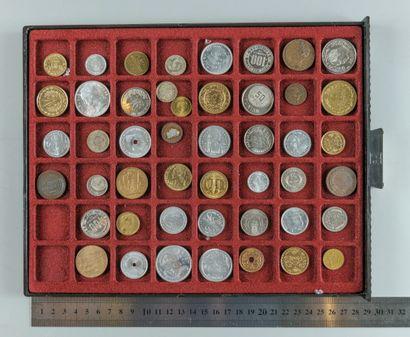 Essais monétaires. Lot de 45 essais des colonies...