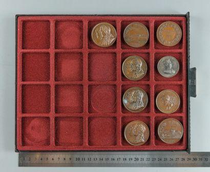 Louis-Philippe Ier. Lot de 9 médailles en...