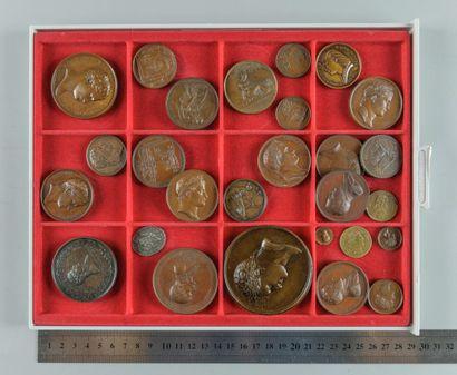 Napoléon Ier/Premier empire. Lot de 27 médailles...