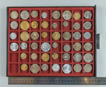 Essais monétaires. Lot de 46 essais des colonies...
