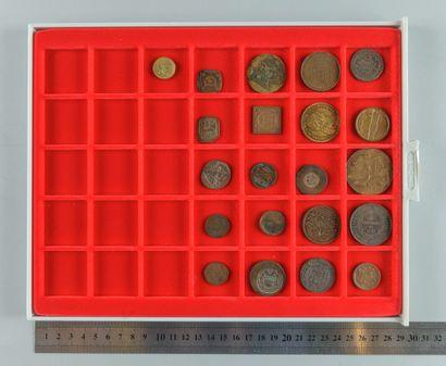 Monnaie et monnayage, poids monétaires. Lot...