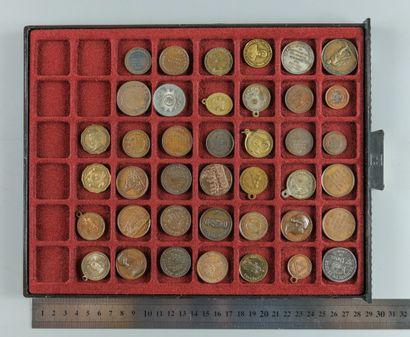 IIe République, 1848. Lot de 40 médailles...
