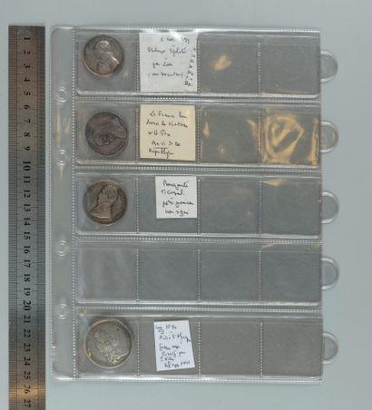 Louis XIV (Afrique), Révolution, Consulat. Classeur de 6 médailles en argent