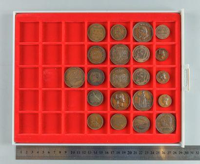 Visites à la Monnaie, Lot de 21 monnaies...
