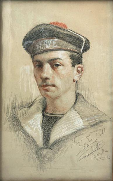 Portrait de Henri Marin-Darbel  Sanguine, fusain et craie