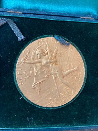 Médaille en bronze doré