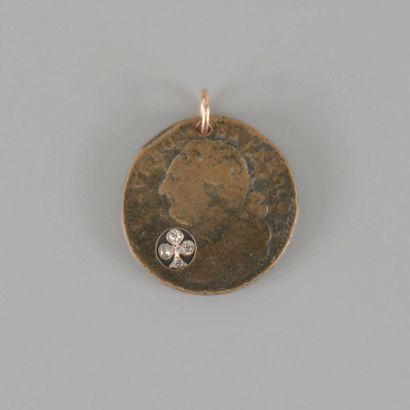 Médaille légitimiste en bronze au profil...