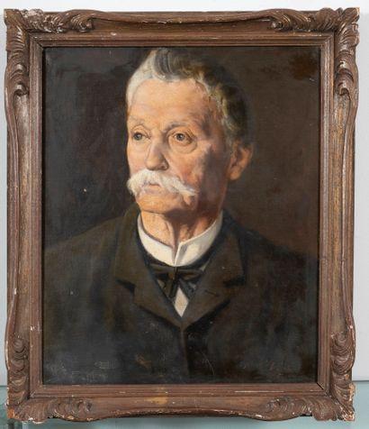 Ecole française du début du XXe siècle  Portrait...