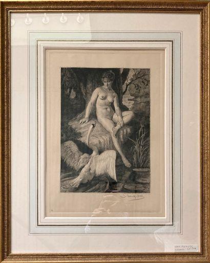 Jacques Georges SCHULTZ-DAL (1894-?)  Leda...