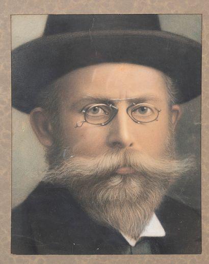 Ecole française vers 1900  Portrait d'homme...