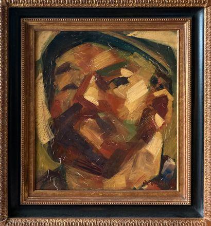 Jacques DESHAIES (1941-2005)  Paysan  Huile...