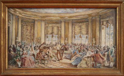 Miniature représentant le concert de musique...