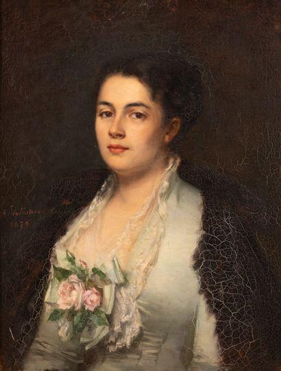 Amélie VALENTINO (1842-1921)  Portrait de...