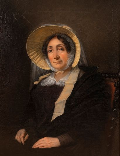 Ecole française vers 1850  Portrait de femme...