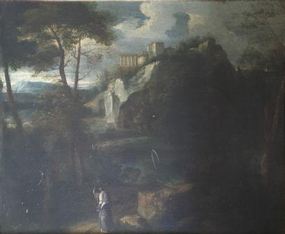 Ecole Française du XVIIe siècle  Paysage...