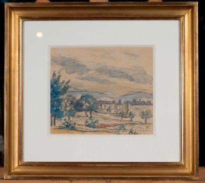 20911 Henri MANGUIN (1874-1949)  Paysage,...