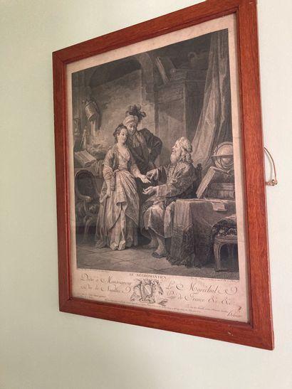 """Ensemble de gravures encadrées, histoire, portraits historiques et divers :  -""""La..."""