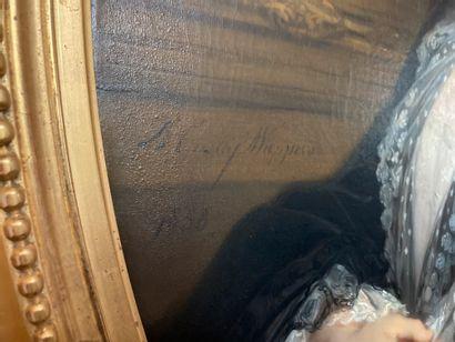 Gustave WAPPERS (1803-1874)  Portrait de Caroline-Cécile Beaumont (1823-1922), épouse...