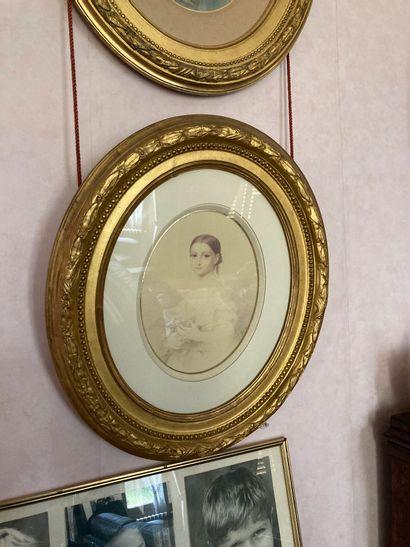 Ecole française du XIXe siècle  Quatre portraits...